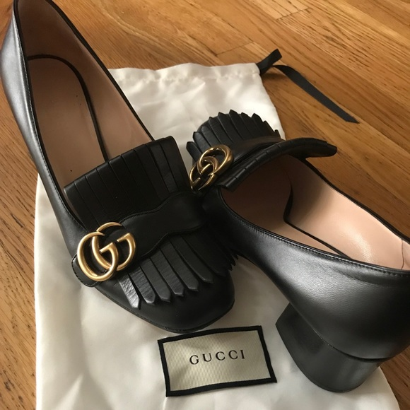 68dc7b20af8 Gucci Shoes - Gucci Marmont Leather mid heel pump